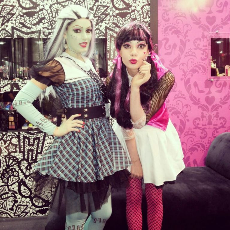 Frankie Stein & Draculaura na Beauty Fair 2013